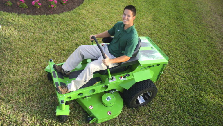 Josh Flowers, the owner of Eco-Lectric, a Lawncare and Landscape Maintenance company located in Bradenton, Florida